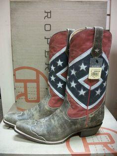 Men s Roper Rebel Flag Snip or Square Toe Boot c82e9c5b3381