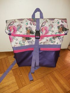Sac à dos Troïka violet et rose cousu par Justine - Patron Sacôtin