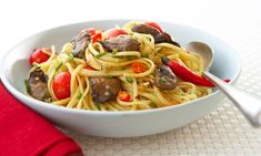 Healthy Recipes | Chili Smoked Oysters with Linguini | Canned Oysters Recipes