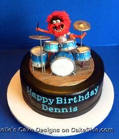 Animal Drum Cake