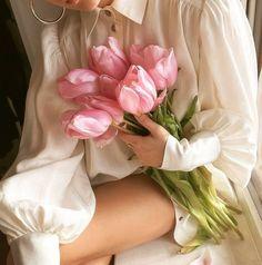 Pink Tulips, We Heart It, Flowers, Cottage, Content, Garden, Beautiful Flowers, Garten, Cottages