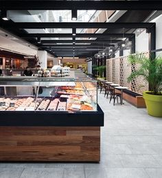 Retail Design – Westfield Chatswood Fresh Food Market Renovation by Westfield Design and Construction. Australian Interior Design, Interior Design Awards, Retail Interior, Cafe Interior, Cafe Design, Store Design, House Design, Design Design, Commercial Design