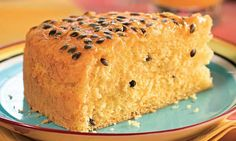 Passion Fruit cake (recipe in portuguese)