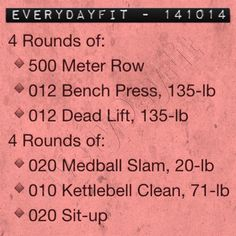 #EveryDayFit 141014 #wod #workout #todaysworkout #fitfluential #crossfit