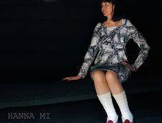 Mekko äidille. Jersey dress sewing. Fabric Vimma Company Letti/Maija Louekari. Pattern Burda.