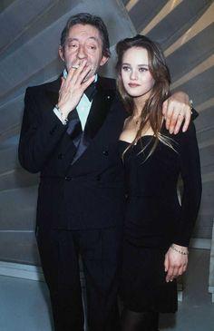 Vanessa Paradis and Serge Gainsbourg