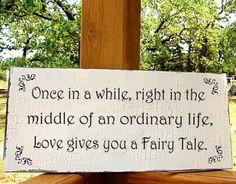 Wedding Signs ONCE In A WHILE 12x24 Cottage Wedding Decoration Shabby Chic | FamilyAtticShoppe - Wedding on ArtFire
