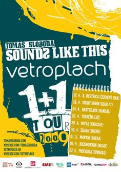 """vetroplach """"sounds like this"""" tour 2009 Sounds Like, Comic Books, Tours, Comics, Cover, Movie Posters, Film Poster, Popcorn Posters, Comic Book"""