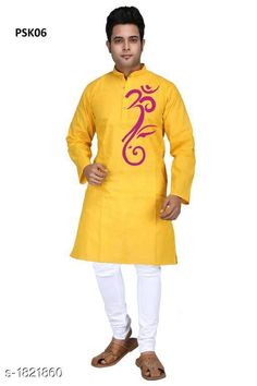 Kurtas Men's Trendy Stylish Poplin Hand Printed Kurta Fabric: Poplin Sleeves: Full Sleeves Are Included Size:  S,M,L,XL,2XL,3XL,4XL,5XL (Refer Size Chart) Length: Refer Size Chart Type: Stitched Description: It Has 1 Piece Of Men's Kurta Work: Hand Printed Sizes Available: XS, S, M, L, XL, XXL, XXXL, 4XL, 5XL, 6XL *Proof of Safe Delivery! Click to know on Safety Standards of Delivery Partners- https://ltl.sh/y_nZrAV3  Catalog Rating: ★4 (455)  Catalog Name: Men's Trendy Stylish Poplin Hand Printed Kurtas Vol 1 CatalogID_239570 C66-SC1200 Code: 445-1821860-