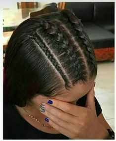 # Braids africanas recogido in 2020 Kids Braided Hairstyles, Easy Hairstyles For Long Hair, Braids For Long Hair, Pretty Hairstyles, Straight Hairstyles, Baddie Hairstyles, Girl Hairstyles, Curly Hair Styles, Natural Hair Styles