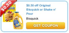 $0.50 off Original Bisquick or Shake n' Pour