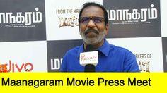 Actor Charle Speech at Maanagaram Movie Press Meet | Maanagaram Press Meet
