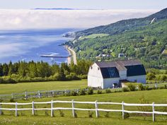 Stock Photo - Village of Saint-Irenee on the edge of the St. Lawrence River in Charlevoix, Quebec, Canada Saint Lawrence River, St Lawrence, Charlevoix Quebec, Baie St Paul, Malbaie, Saint Laurant, Road Trip, Destinations, La Rive