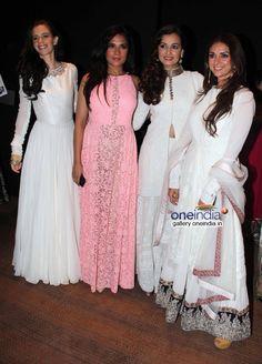 April 01, 14: Kalki Koechlin, Richa Chadda, Dia Mirza and Aditi Rao Hydari at Manish Malhotra's #MenForMijwan https://twitter.com/MWSYouth Show
