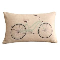 Clear Bicycle Print Rectangular Throw Pillow Covers 30CMx45CM Lumbar Cushions Linen Decorative Pillow Covers, http://www.amazon.com/dp/B00FC6P5MA/ref=cm_sw_r_pi_awdm_x_RpITxbPHVZX2Z