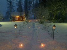 Joulusauna. Christmas sauna.
