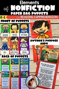 Nonfiction Hands on Reading Activities Reading Comprehension Skills, Comprehension Activities, Reading Skills, Reading Lessons, Reading Passages, Nonfiction Activities, Reading Activities, Word Study, Word Work