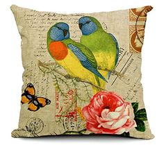 East Melody® Cotton Linen Square Decorative Throw Pillow Cover Cushion Case Pillow Case 18 X 18 Inches / 45 X 45 cm, Small Fresh Garden Parrot (parrot 02) East Melody http://www.amazon.com/dp/B00UV2O0S0/ref=cm_sw_r_pi_dp_k3Lcvb199E0AN