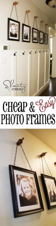 Photo frames close together