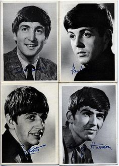 Beatles Memorabilia The Beatles Black and White 1st Series Gum Cards were issued in 1964