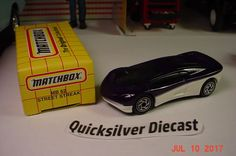 Matchbox Street Streak Purple White 1995 62 Box