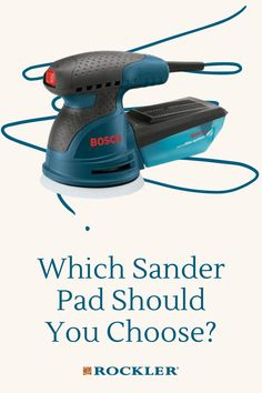 Which will be the better choice for general sanding — a softer or a harder pad? Find out in this article. #CreateWithConfidence #Finishing #Sanding #SandingPads #SanderPad Rockler Woodworking, Beginner Woodworking Projects, Learn Woodworking, Spindle Sander, Sanding Block, Wood Stain, Wood Working For Beginners, You Choose, Power Tools