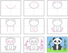 How to Draw a Panda · Art Projects for Kids
