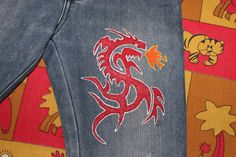 dragon on jeans