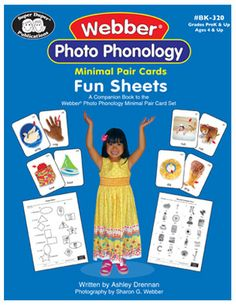 223-page illustrated reproducible activity book to use with Webber Phonology Cards. Word, phrase, and sentence level games, word searches, match-ups, and more! Grades PreK and up.