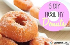 """6 D.I.Y. Healthy Donuts - We're not ones to stick the """"healthy"""" label on everything, but these donuts fit the bill. Tasty too! #diy #donuts #breakfast"""