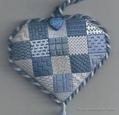 Heart Sampler for ANG Seminar Auction | Brenda's Needlepoint Studio