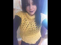 Crochet abrigo o sobre todo para principiantes - YouTube