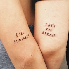 girl almighty // she's not afraid tattoos! These are so awesome! I kind of, sort of, maybe want one