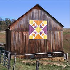 Flying Geese quilt pattern on roof