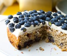 Frosted Blueberry Cake