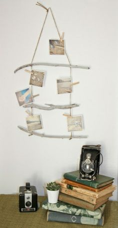 fotos auf treibholz stöcke hängen - Wunderbare Treibholz Deko, die auch…