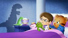 <p>Daniel sees a scary shadow on the wall, but Dad shows him that shadows can be fun. Teach kids that being brave and investigating scary things together helps make things seem not as bad.</p>