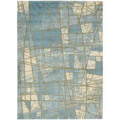 Shop for Luxor Abstract Mosaic Blue Rug (5' x 7'). Get free shipping at…