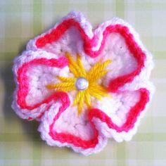 Tropical Crochet Flower ~ free pattern