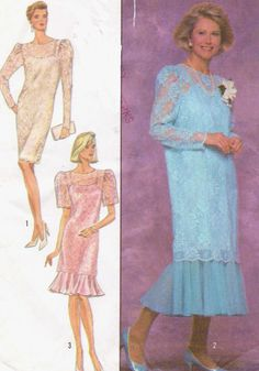 80s Simplicity Sewing Pattern 9101 Womens Flounced by CloesCloset, $10.00