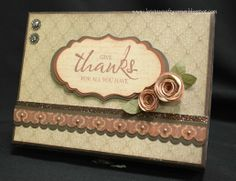 gift card box - the top (that could easily be an actual card itself!) by Krista Hershberger using CTMH Huntington paper.... see the box sides in her blog post