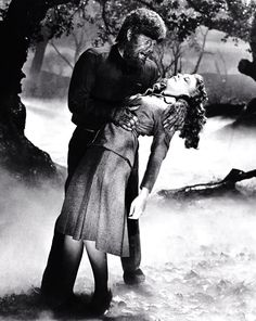 Lon Chaney Jr and Evelyn Ankers in The Wolf Man (1941)
