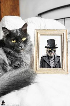 Custom Cat Portrait, Gothic Steampunk Victorian inspired Goth gift, personalized goth gifts, black and white pet portrait, Gothic home decor Cat Lover Gifts, Cat Lovers, Monochrome Color, Gothic Home Decor, Gothic House, Great Birthday Gifts, Gothic Steampunk, Printing Services, Pet Portraits