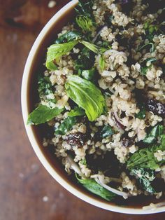 This salad is everything (and more!). With kale, raisins, pine nuts and parmesan, this quinoa salad is a must-try.