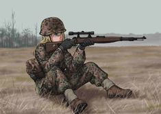 Anime Military, Military Girl, Comic Pictures, Manga Pictures, Military Archives, Anime Warrior Girl, Character Art, Character Design, Warrior Drawing