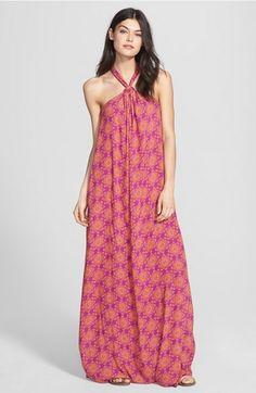 Ella Moss Print Halter Maxi Dress // @nordstrom