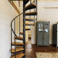 Space Saving Spiral Staircase Design, Pictures, Remodel, Decor and Ideas