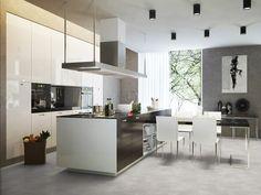 Modern open kitchen living in wood look Open Kitchen, Kitchen Living, Kitchen Decor, Contemporary Kitchen Design, Contemporary Style, Cuisines Design, Home Renovation, Countertops, Kitchen Remodel