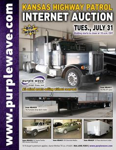 Kansas Highway Patrol Seizure Auction  July 31, 2012  http://purplewave.co/120731A
