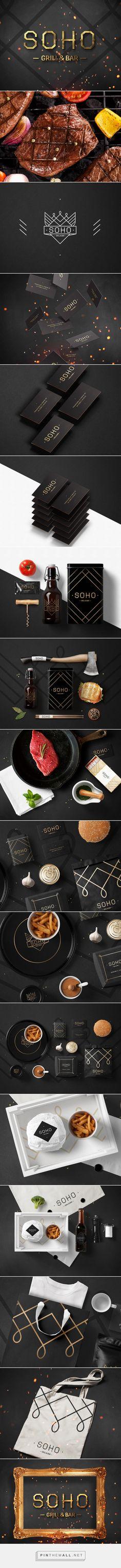 Фирменный стиль для гриль-бара Сохо on Behance   Fivestar Branding – Design and Branding Agency & Inspiration Gallery